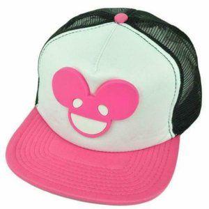 NEW! Deadmau5 Pink Logo Face Trucker Hat